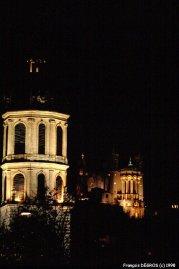 Lyon - Fourvière depuis la place Antonin Poncet