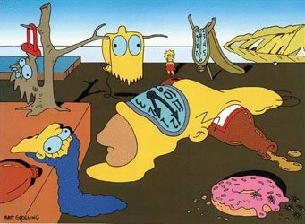 Hommage à Salvador Dali du dessinateur Matt Groening