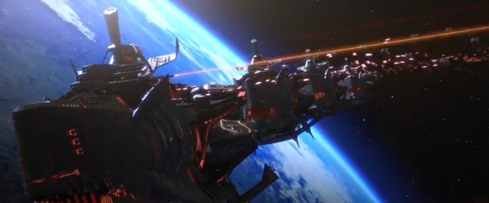 Albator combat dans l'espace