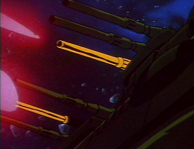 Les lasero-canons de l'Atlantis en action
