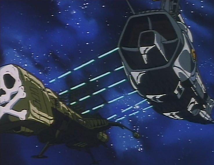 L'Ombre de la Mort et l'Atlantis en plein combat