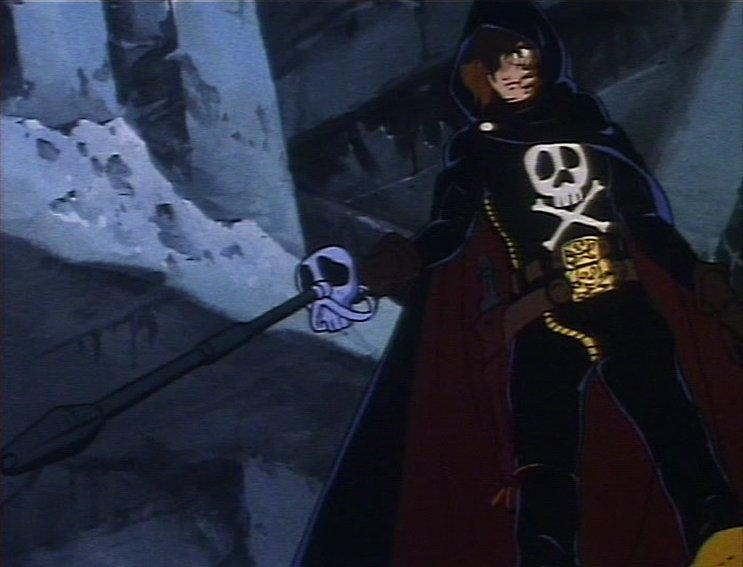Albator en armes, épée et pistolet laser