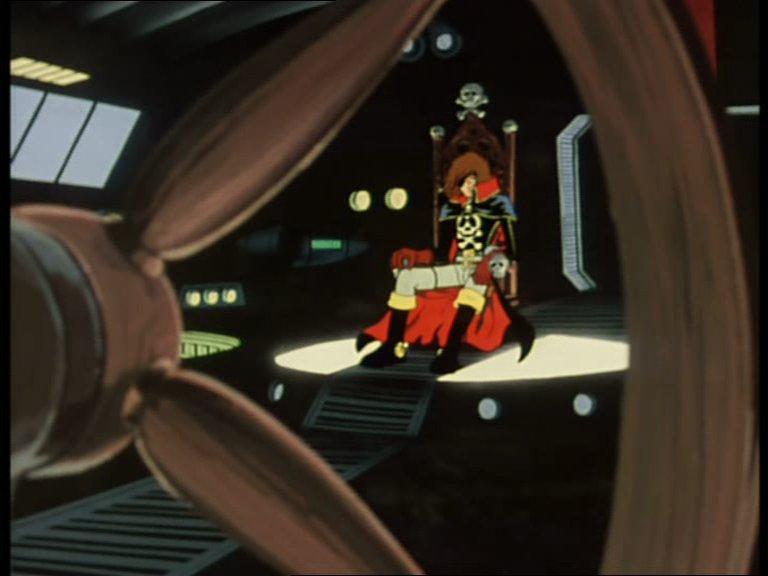 Albator dans la salle des commandes de l'Atlantis