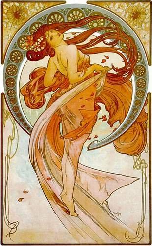 Alfons Mucha - La Danse
