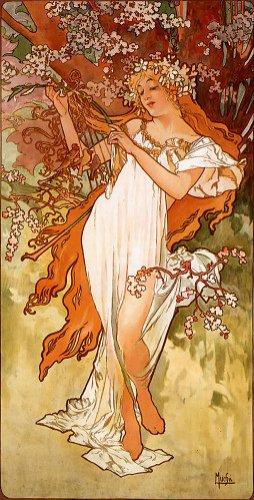 Alfons Mucha - Le Printemps