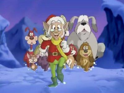 Dessins animés : Le Noël des neuf chiens