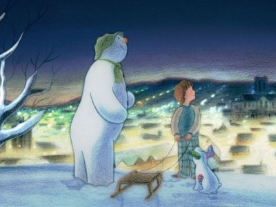 Dessins Animés : Le bonhomme de neige et le petit chien