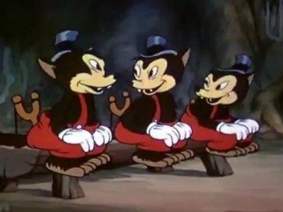Dessins animés : Les Trois Petits Loups (Silly Symphonies)