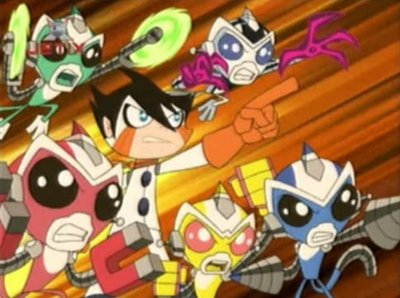 Dessins animés : Mega robot super singes hyperforce go !